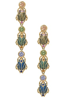 Multi-Coloured Beetle March Earrings by The Bohemian