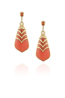Coral berry drop earrings by The Bohemian