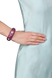 Pearly Purple Dazzling Star Motif Bangle by The Bohemian