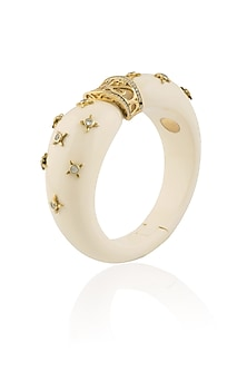 Gold Plated Ivory Resin Confetti Bracelet by The Bohemian
