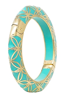 Gold Plated Pistachio Bangle by The Bohemian