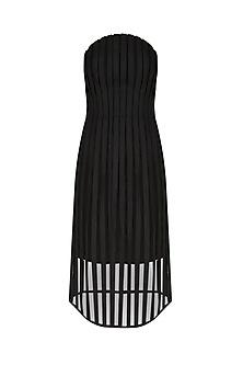 Black Corsetted Off Shoulder Dress