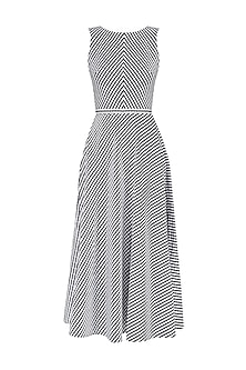 Black and White Checkered Backless Dress