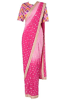 Dhoti-Pant Saree Set In Silk, Crepe and Georgette
