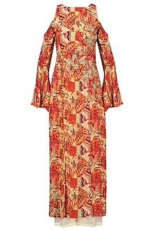 Multicolor Printed Tunic with Palazzo Pants Set