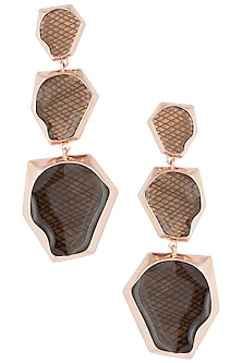 Rose gold plated chandelier ombre earrings by Bansri