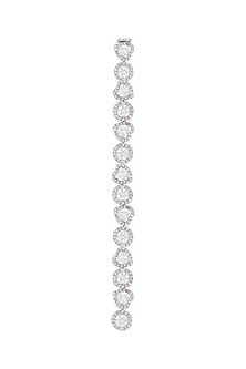White Finish Swarovski Flexible Bracelet by Born 2 Flaaunt by Abhishek & Shrruti