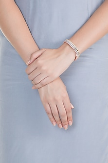 Gold, Silver & Rose Gold Finish Bracelet by Born 2 Flaaunt by Abhishek & Shrruti