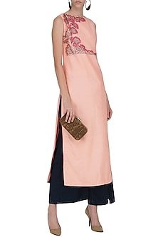 Pale Pink Kurta Set by Breathe By Aakanksha Singh