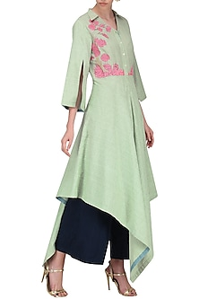 Light Green High Low Tunic by Breathe By Aakanksha Singh