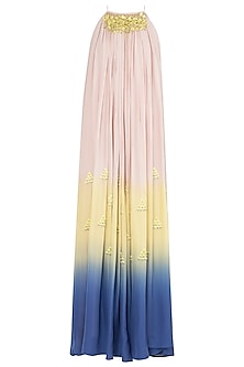 Multi-Colour Embroidered Maxi Dress