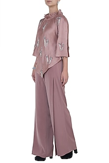 Pink Kaftan Top with Pants by Babita Malkani