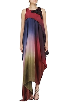 Multi Color Ombre Asymmetrical Dress by Babita Malkani