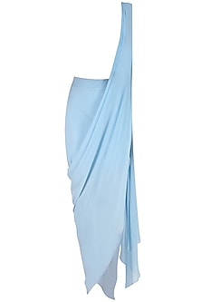 Serenity Blue Drape Saree