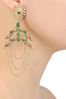 Gold Plated Flock Of Birds Inspired Earrings