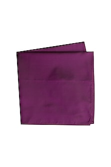 Purple Silk Pocket Square by Bubber Couture
