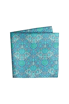 Blue Printed Assorted Pocket Square by Bubber Couture