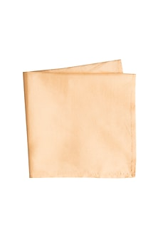 Light Beige Silk Assorted Pocket Square by Bubber Couture