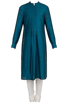 Jade green textured kurta set