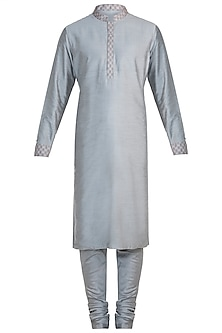 Grey printed reversible kurta set