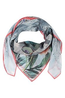 Grey Return To Paradise Scarf by RASEEL AT CASAPOP