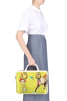Yellow Easter Egg Hunt Hand Woven Laptop Bag