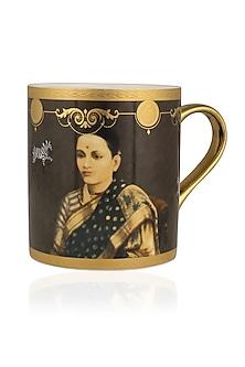 Brown Gold Sarkar Raj Rani Mug by RASEEL AT CASAPOP