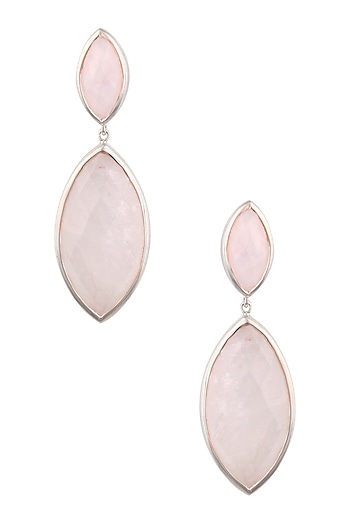Rose Gold Vermeil Finish Moonstone Earrings by Carrie Elizabeth