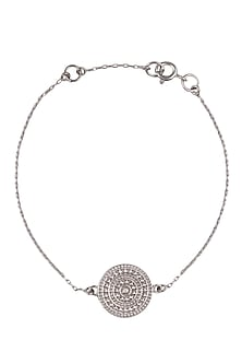 Silver Vermeil Finish Aztec Disc Bracelet by Carrie Elizabeth