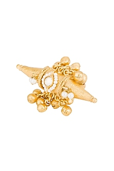 Gold Plated Spike Ring by Chhavi's Jewels