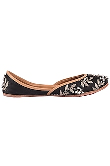 Black Embroidered Juttis by Coral Haze