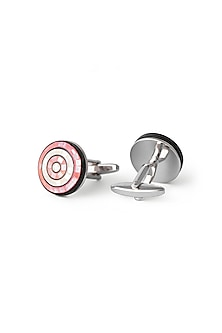 Pink & Yellow Mother Of Pearl Cufflinks by Closet Code