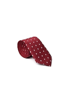 Red Sail Boat Printed Tie by Closet Code