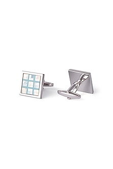 Silver Mother Of Pearl Cufflinks by Closet Code