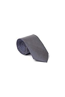 Blue Stripes Printed Tie by Closet Code