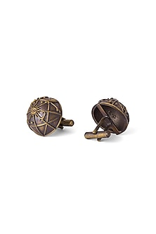Antique Gold Finish Atlas Cufflinks by Cosa Nostraa