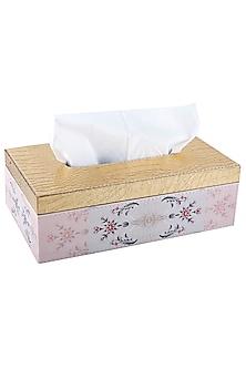 Pink Vegan Leather Tissue Box  by Artychoke