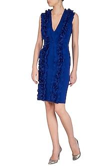 Blue Bodycon Dress by Sameer Madan