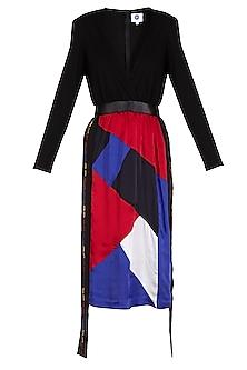 Black Wrap Dress by Sameer Madan