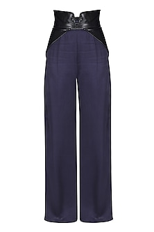 Navy Blue Trousers by Sameer Madan