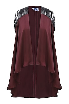 Maroon Asymmetrical Cape