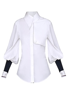 White Buttoned Trench Shirt