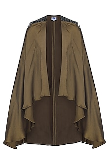 Olive Green Asymmetrical Cape