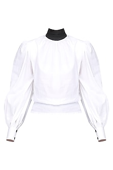 White High Neck Shirt
