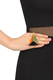 Tri Coloured Embossed Fusion Ring by Sameer Madan