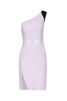 Lavender One Shoulder Bodycon Dress