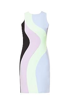 Multi-Colour Knee Length Bodycon Dress