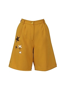 Harvest Gold Metallic Stars Shorts