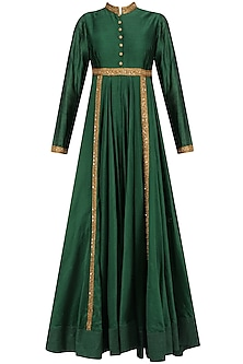 Forest Green Sequins Embroidered Kalidaar Kurta Set