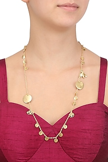 Matte Gold Plated Ladoo Charm Necklace